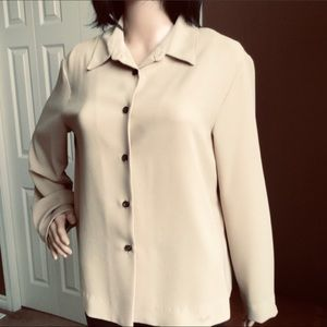 Evan Picone Creamy Butterscotch Blouse